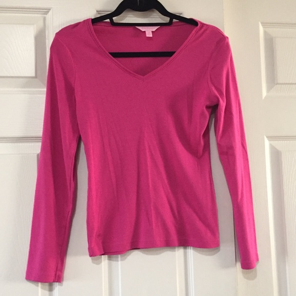 Lilly Pulitzer Tops - Lilly Pulitzer Cotton Long Sleeve
